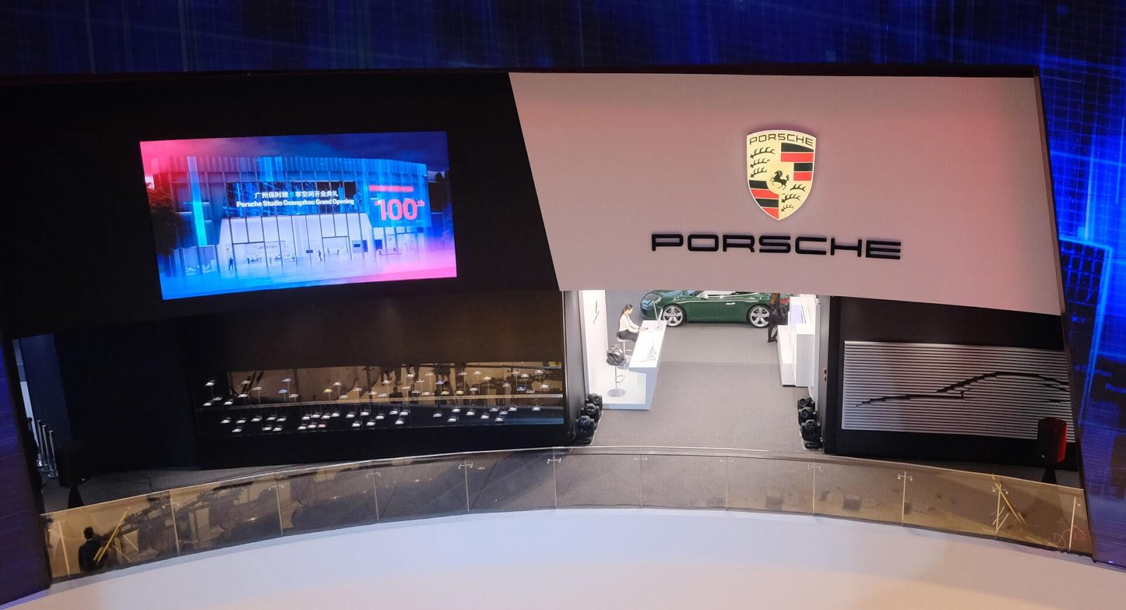 У Porsche появился 100-й дилерский центр в Китае